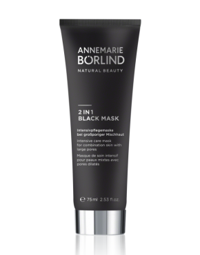 Annemarie Börlind, 2 in 1 Black mask, 75ml